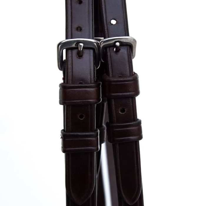 ALEQUI side straps havana brown closeup