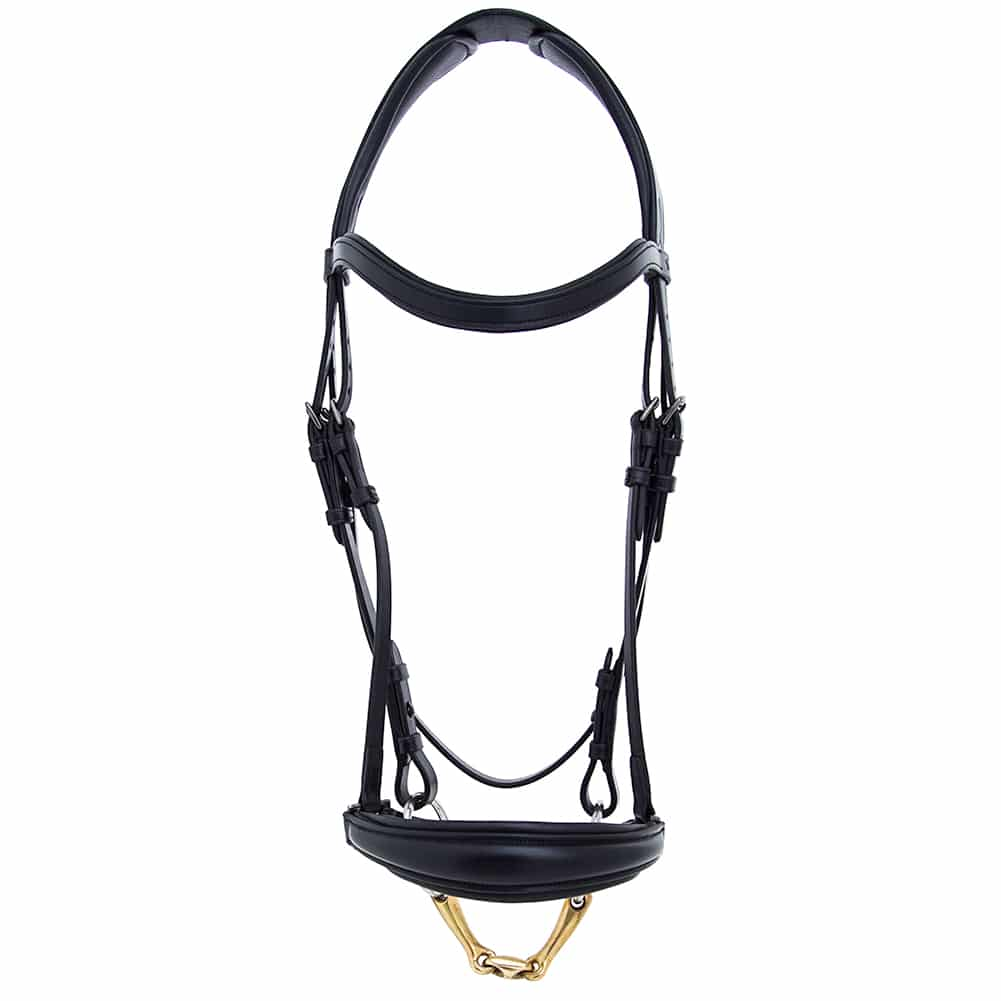ALEQUI drop noseband black dressage full