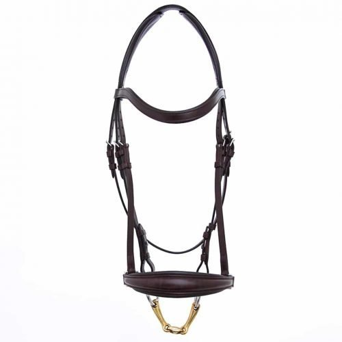ALEQUI drop noseband havana brown anatomical neckpiece full