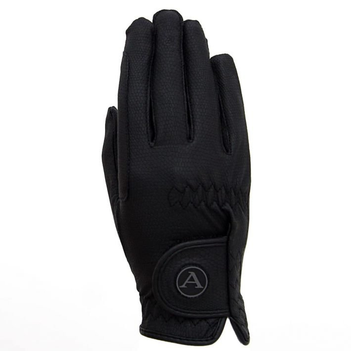 ALEQUI riding gloves black back full