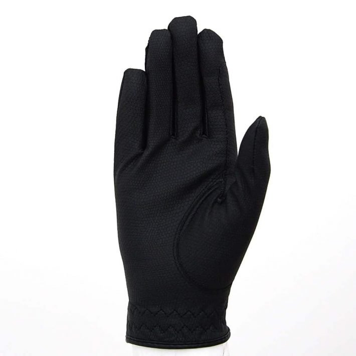 ALEQUI riding gloves black front full