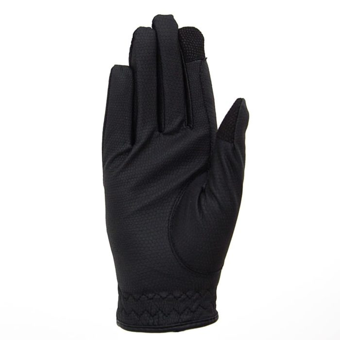 ALEQUI riding gloves black touch front full