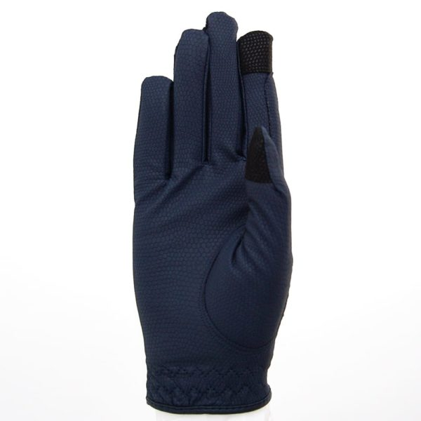 ALEQUI riding gloves blue touch front full