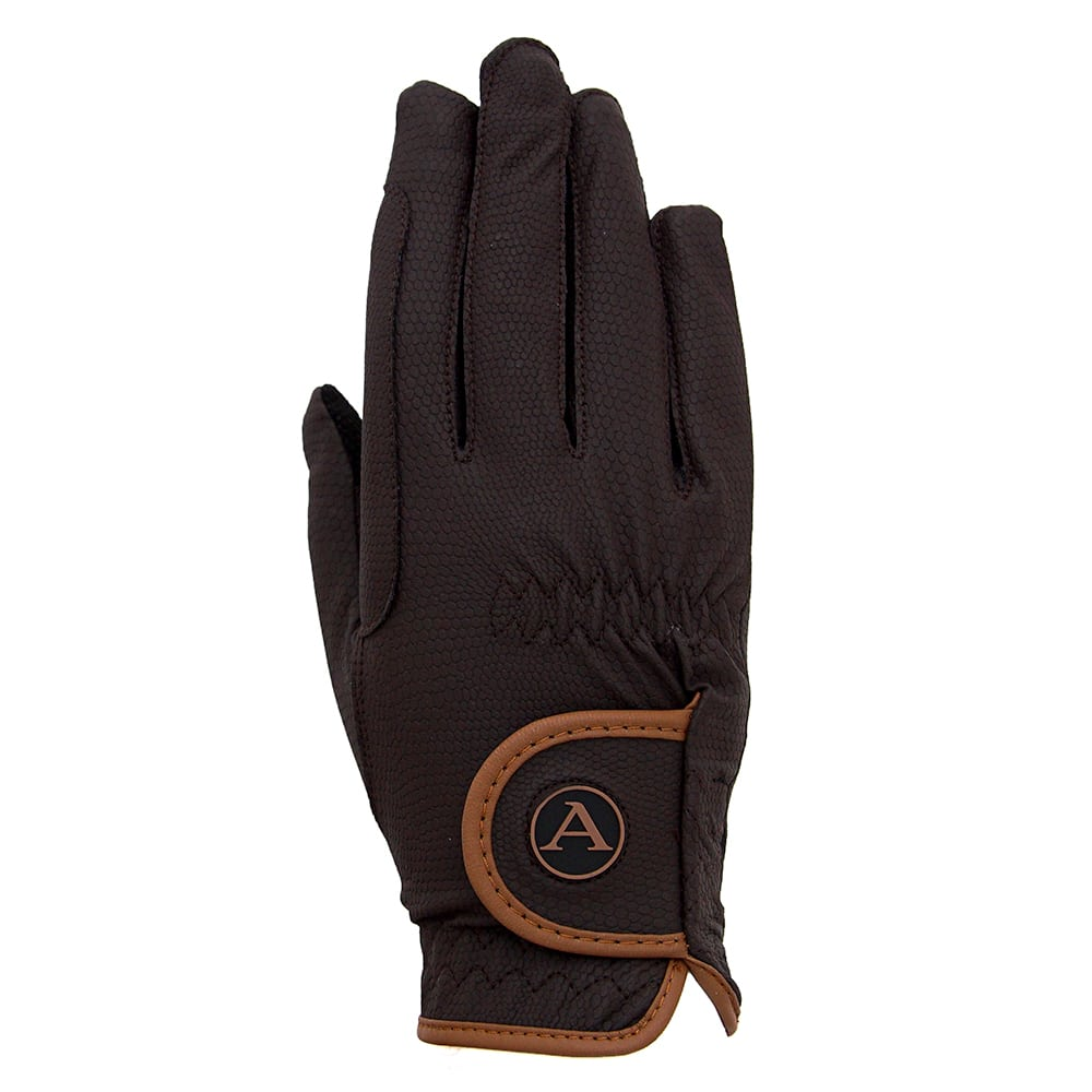 ALEQUI riding gloves brown caramel back full