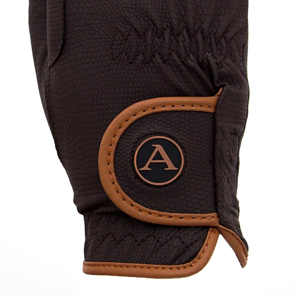 ALEQUI riding gloves brown caramel closeup