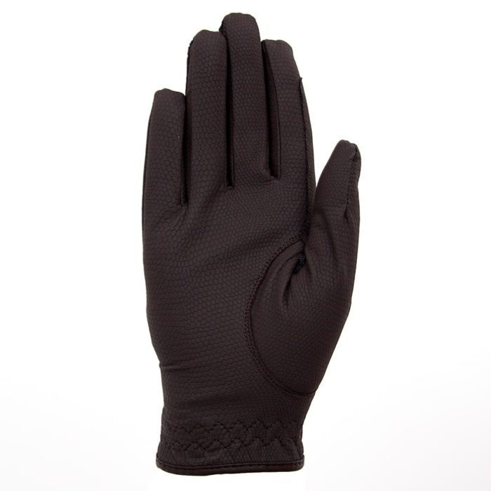 ALEQUI riding gloves brown front full