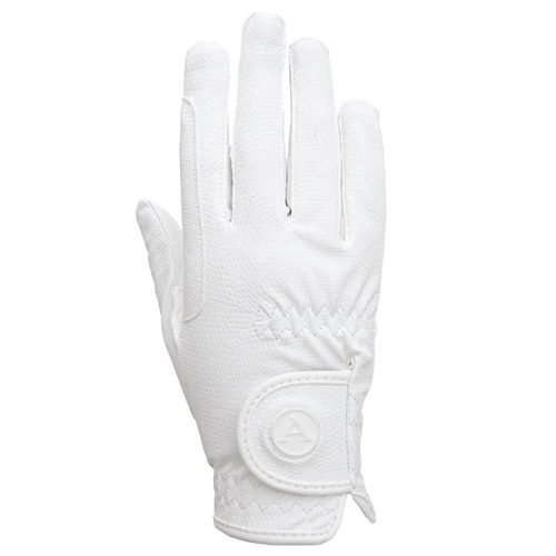 ALEQUI riding gloves white back full