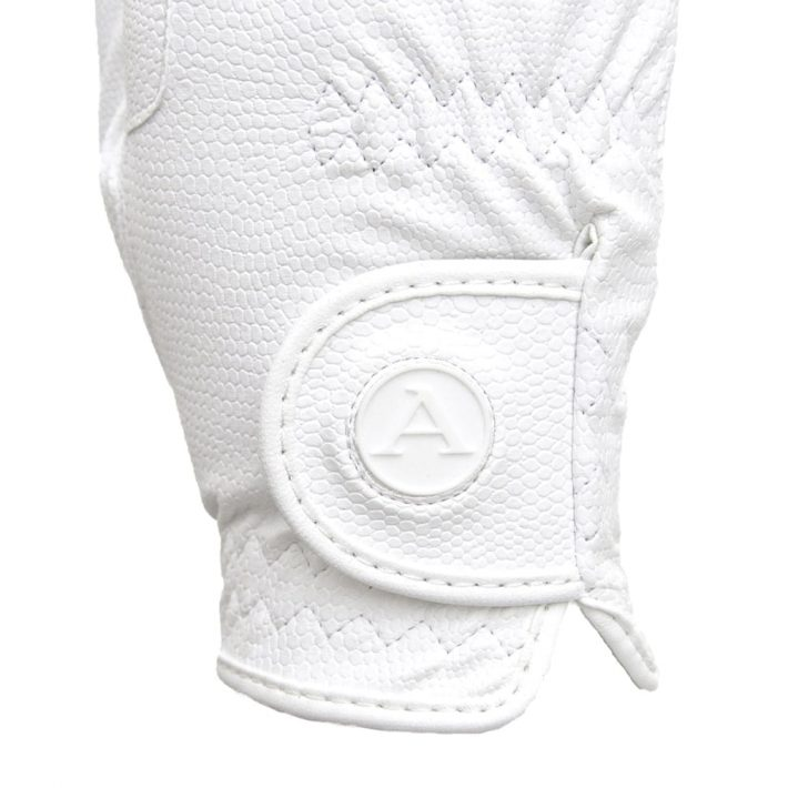 ALEQUI riding gloves white closeup