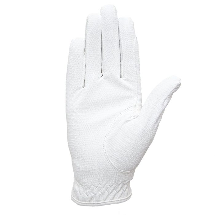 ALEQUI riding gloves white front full