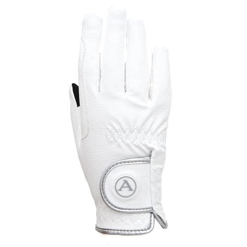 ALEQUI riding gloves white touch back full