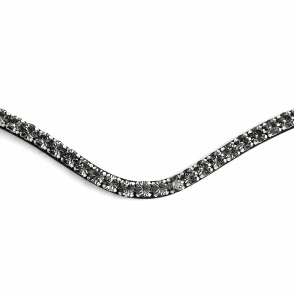 ALEQUI black diamond browband closeup