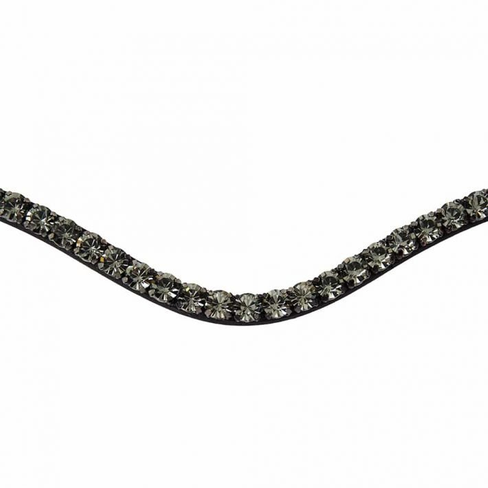 ALEQUI browband black diamond closeup