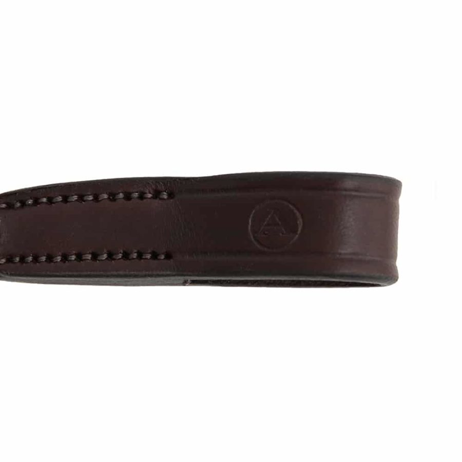 ALEQUI browband havana brown detail