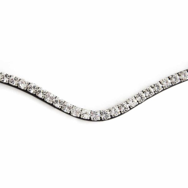 ALEQUI white crystal browband closeup
