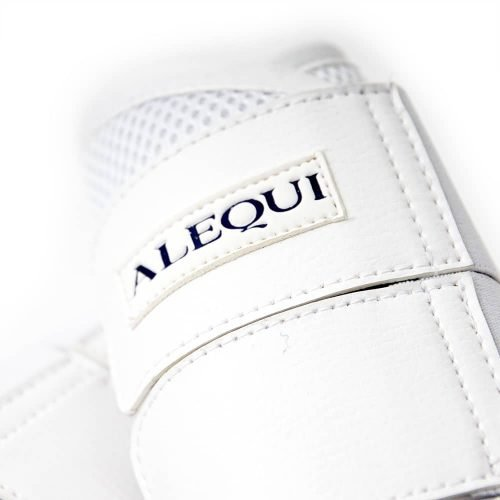 ALEQUI white boots mesh close-up